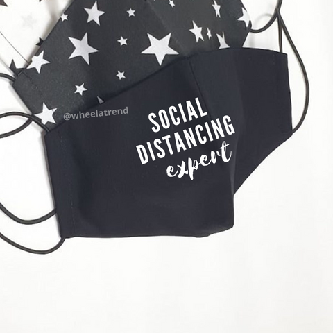 SOCIAL DISTANCING EXPERT Face Mask(Washable)