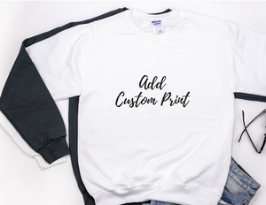 Personalised White Unisex Sweater