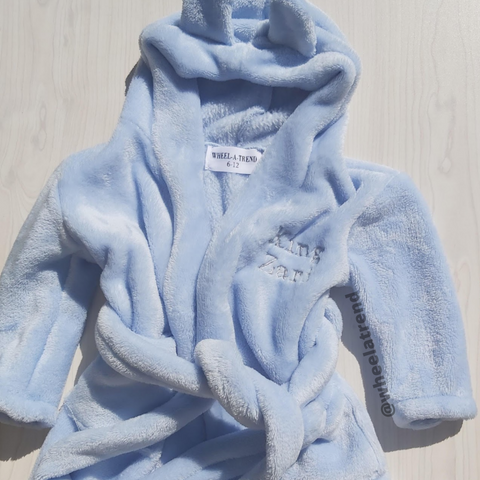 Personalised Embroidery Hooded Fleece Robe