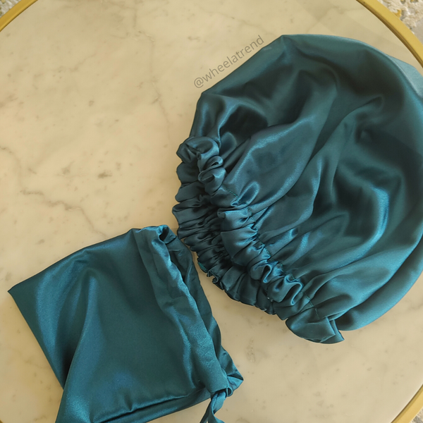 Satin Bonnet (With Bag)
