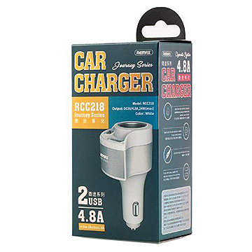 Remax 2 USB Car Charger & Cigarette Lighter