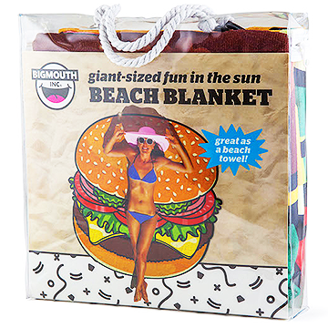 Giant-Sized Burger Beach Blanket