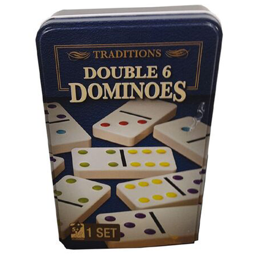 Cardinal Double Six Colour Dot Dominoes