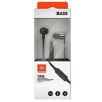 JBL T210 Black Earphones
