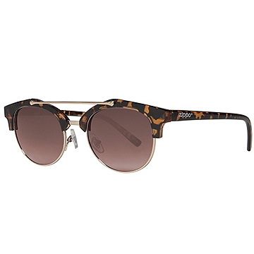 Zippo Brown Sunglasses with Brow Bar