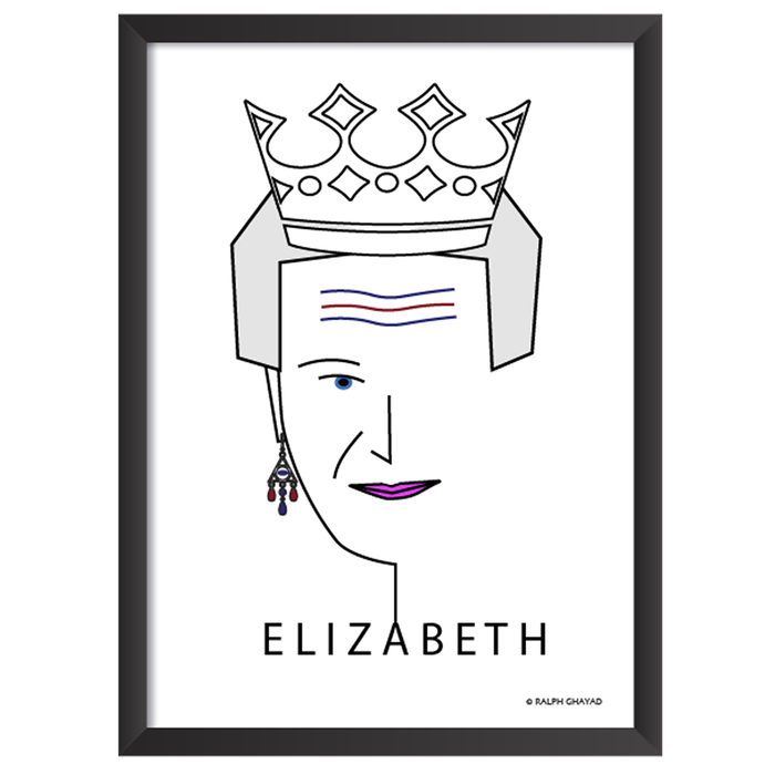 Queen Elizabeth Art Frame
