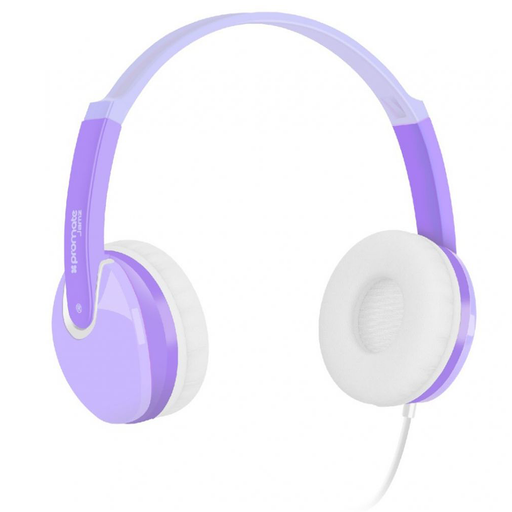 Promate Kids Over The Ear Wired Headset (Purple)