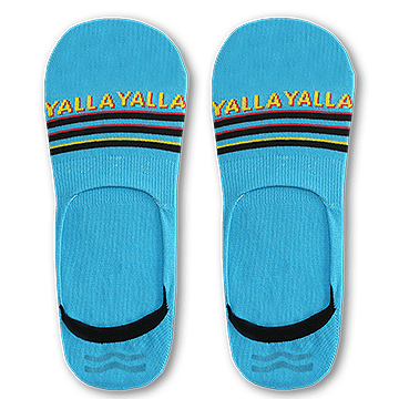 Sikasok Blue Yalla Yalla Invisible Socks