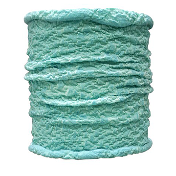 WDX Twistwool Shine Turquoise Face Mask