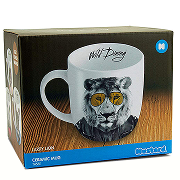 Wild Dining Lion Ceramic Mug