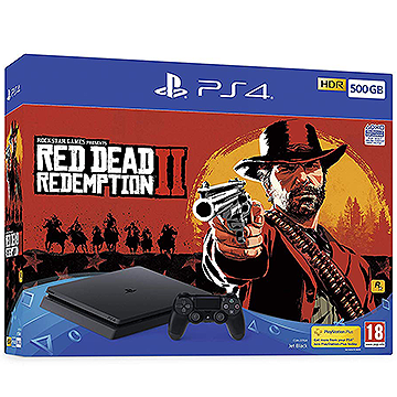 Sony PS4 500GB Console with Red Dead Redemption 2