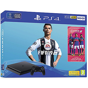 Sony PS4 500GB Console with FIFA 19 Ultimate Team Icons and Rare Player Pack