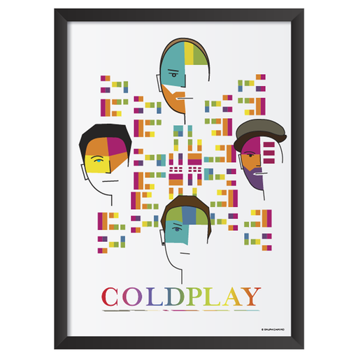 Coldplay Art Frame