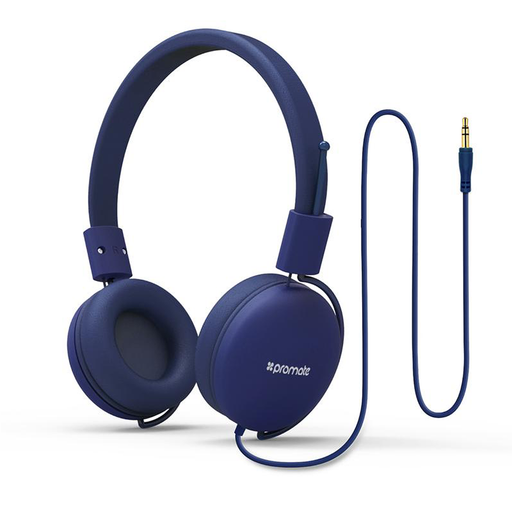Promate Lightweight Soul Stereo Wired Headset (Blue)