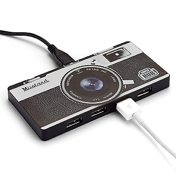 4-Port Camera Shaped USB Hub