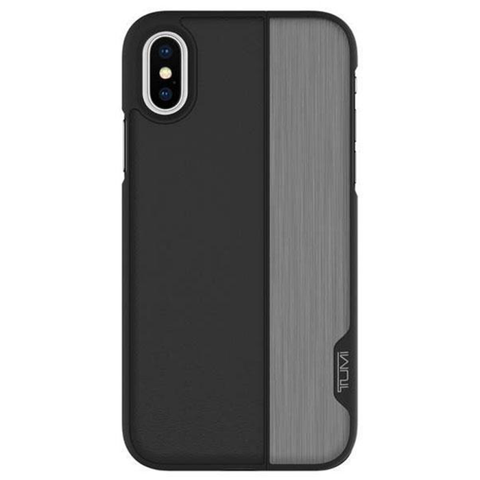 iPhone X vertical slider case- Black/Gunmetal