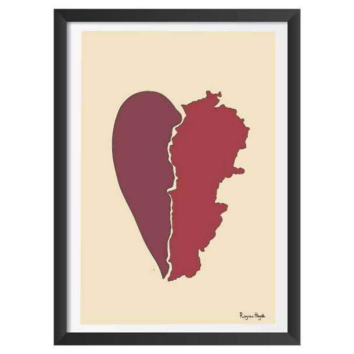 Lebanon Heartbreak Art Frame