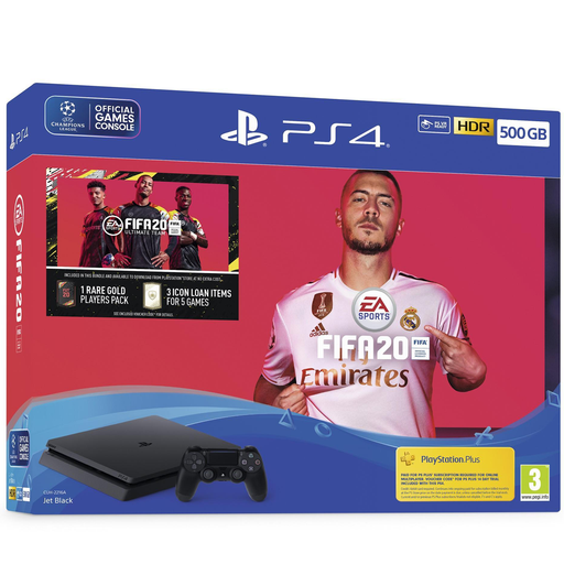 Sony PS4 500GB Console with Fifa 20