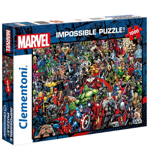 "Clementoni Marvel Comic Character ""Impossible"" 1000 Pieces"