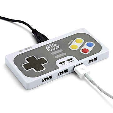 4-Port Game Controller Shaped USB Hub
