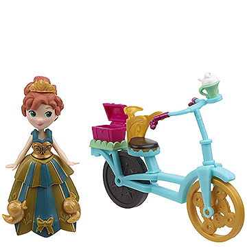 Anna & Bicycle - Disney Frozen Little Kingdom