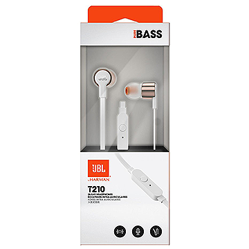 JBL T210 Rose Gold Earphones