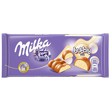 Milka Bubbly White 100g