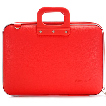 Bombata Classic Briefcase for 15 Inch Laptops (Red)