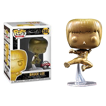 Bruce Lee kicking (Gold) - POP! Heroes - Game of Death