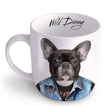 Wild Dining Dog Ceramic Mug