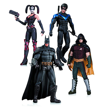 Harley Quinn, Batman, Nightwing, & Robin - DC Collectibles - Batman: Arkham City