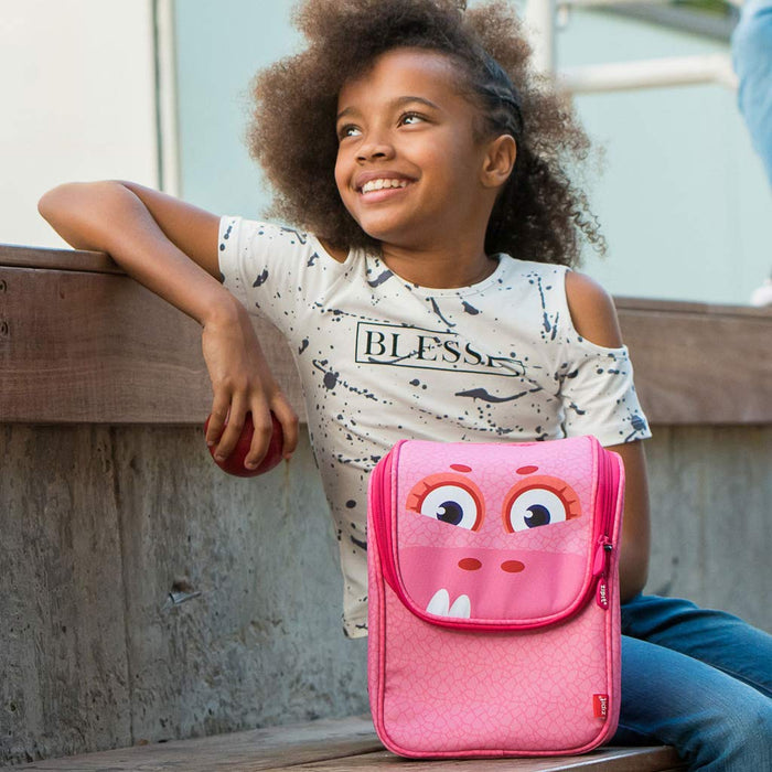 Wildlings Lunch Bag with Straps (Light Pink)