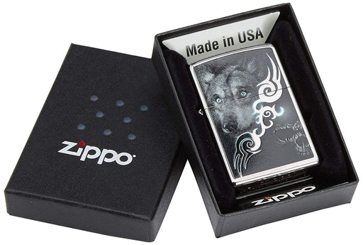 Zippo Wolf with Skull Lighter
