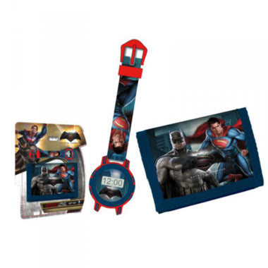 batman v superman digital watch + wallet