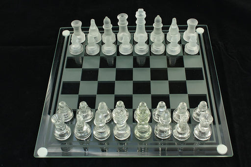 Chess Checkers Glass Board