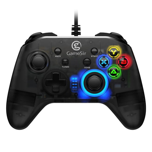 GameSir    - T4W PC Controller Wired Game Controller, Dual Shock USB Gamepad Joystick, Semi-Transparent Design with LED Backlight