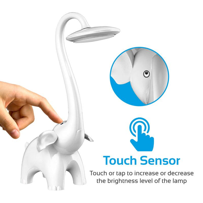 Promate (White Snorky) Touch Control Kids Night LED Lamp