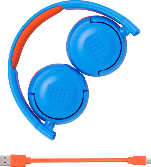 JBL JR300BT Blue & Orange Kids Headphones