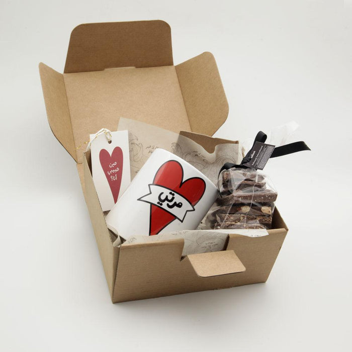 Love box Marti mug + chocolate