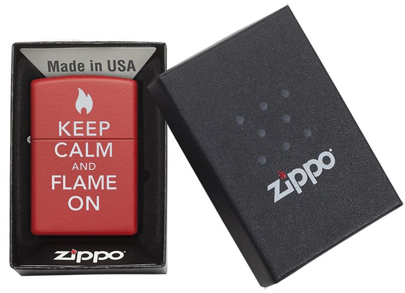 Zippo Keep Calm and Flame On Lighter