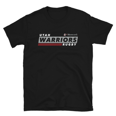 Utah Warriors Rugby Diagonal Stamp Short-Sleeve Unisex T-Shirt