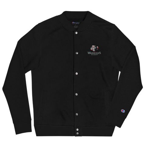 Warriors Rugby Embroidered Champion Bomber Jacket