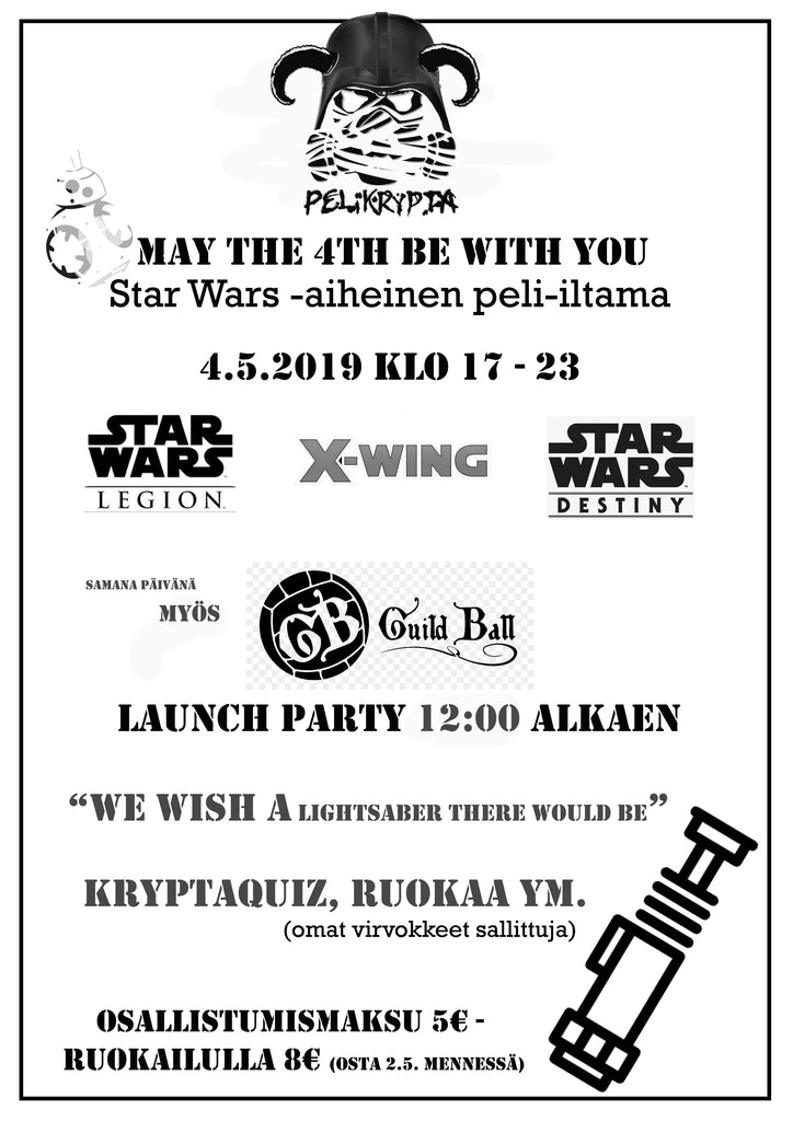 May The 4th Be With You - Star Wars -aiheinen peli-iltama