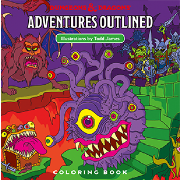 D&D Adventures Outlined - Coloring Book