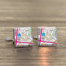Favourite Place Football Stadium Map Cufflinks