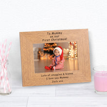 To Mummy On Our First Christmas Personalised Engraved Photo Frame Gift