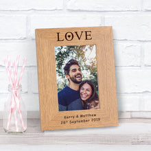 Love Personalised Portrait Engraved Photo Frame Gift