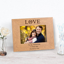 Love Personalised Landscape Engraved Photo Frame Gift