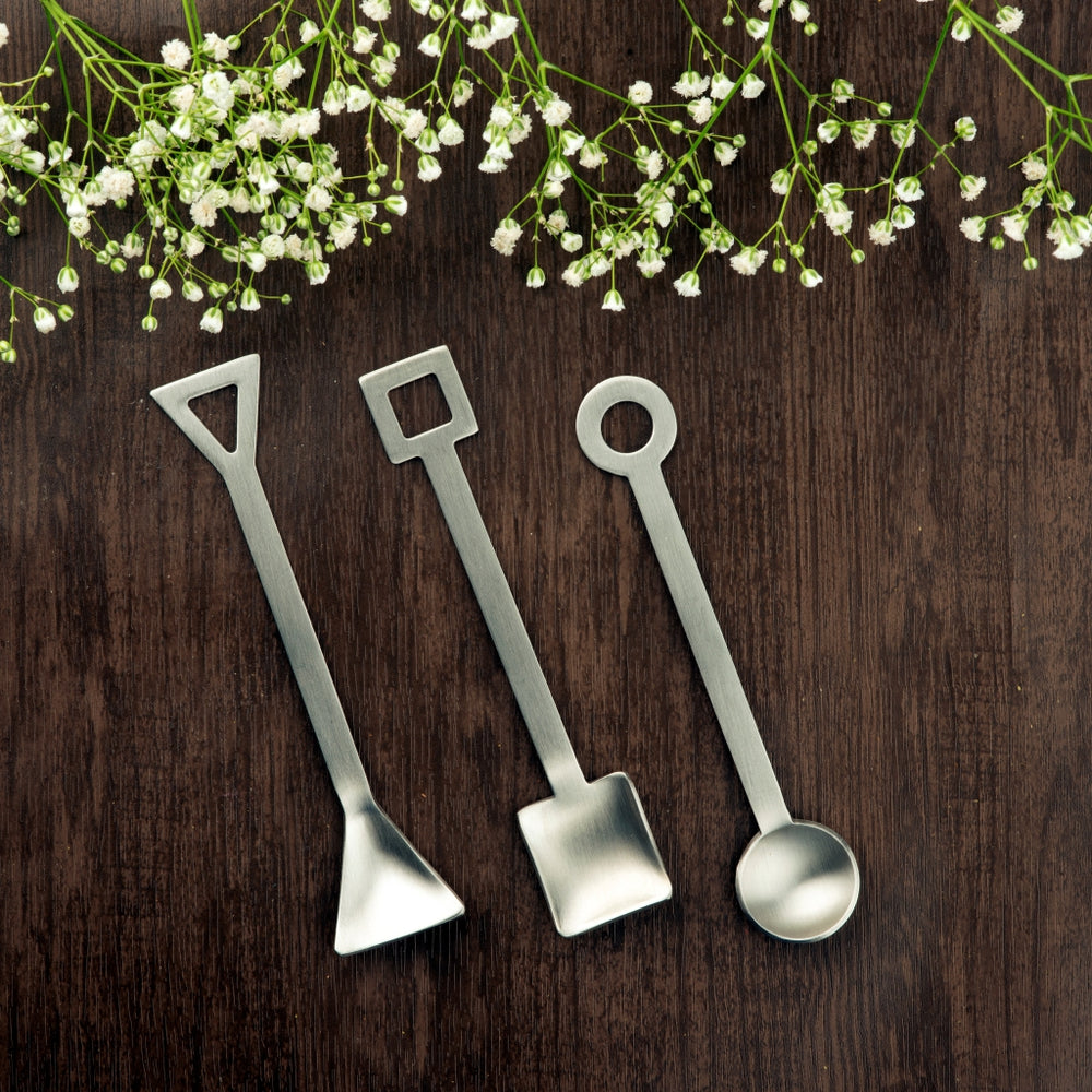 Café Spoon (6 pieces set (Matte) with 3 different shape)