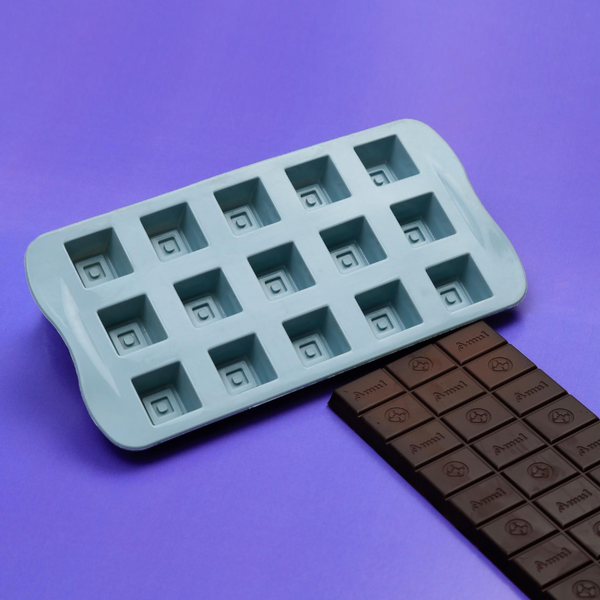 Silicone Square Chocolate Mould - 15 Holes